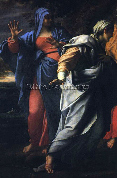 ANNIBALE CARRACCI HOLY WOMEN AT THE TOMB OF CHRIST DETAIL ARTIST PAINTING CANVAS