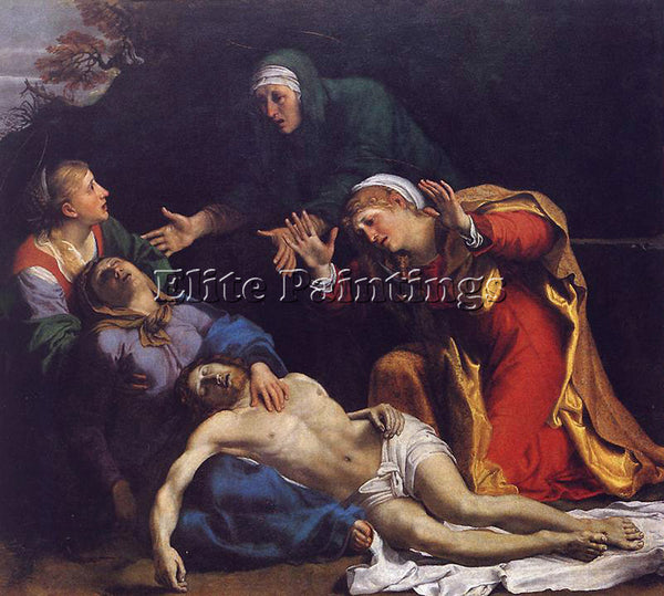 ANNIBALE CARRACCI LAMENTATION OF CHRIST ARTIST PAINTING REPRODUCTION HANDMADE