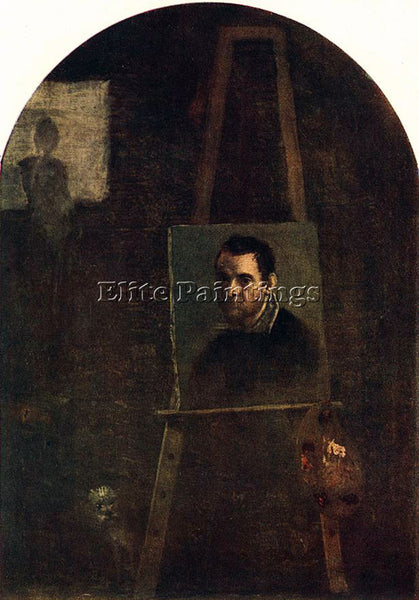ANNIBALE CARRACCI SELF PORTRAIT ARTIST PAINTING REPRODUCTION HANDMADE OIL CANVAS
