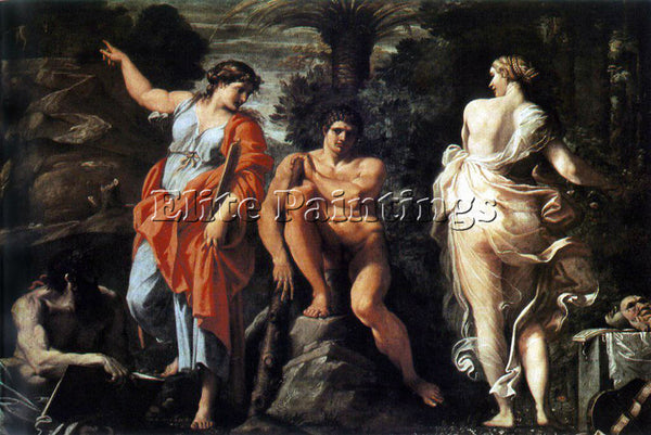 ANNIBALE CARRACCI CHOICE OF HERACLES ARTIST PAINTING REPRODUCTION HANDMADE OIL