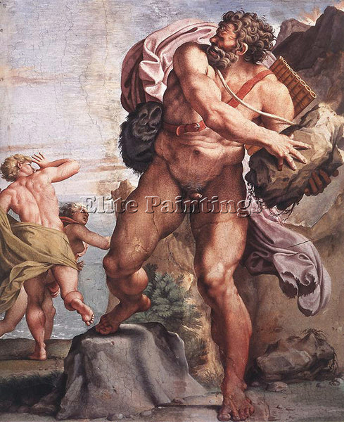 ANNIBALE CARRACCI THE CYCLOPS POLYPHEMUS ARTIST PAINTING REPRODUCTION HANDMADE