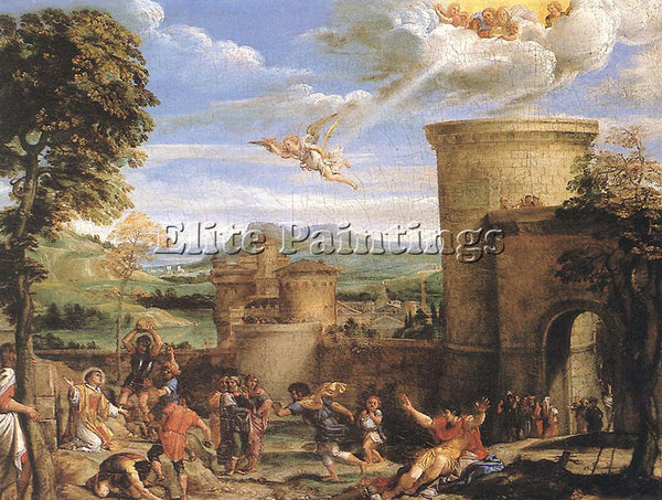 ANNIBALE CARRACCI THE MARTYRDOM OF ST STEPHEN ARTIST PAINTING REPRODUCTION OIL