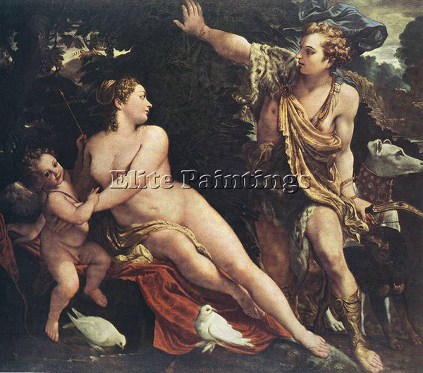 ANNIBALE CARRACCI VENUS AND ADONIS 1 ARTIST PAINTING REPRODUCTION HANDMADE OIL