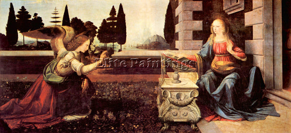LEONARDO DA VINCI ANNOUNCEMENT TO MARIA 2  ARTIST PAINTING REPRODUCTION HANDMADE
