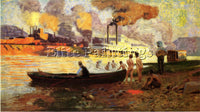 THOMAS POLLOCK ANSCHUTZ STEAMBOAT ON THE OHIO ARTIST PAINTING REPRODUCTION OIL
