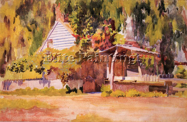THOMAS POLLOCK ANSCHUTZ THE SUMMER HOUSE ARTIST PAINTING REPRODUCTION HANDMADE