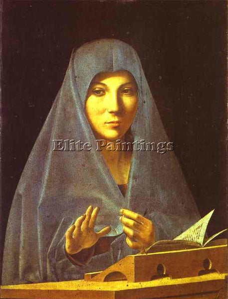 ANTONELLO DA MESSINA ADM5 ARTIST PAINTING REPRODUCTION HANDMADE OIL CANVAS REPRO