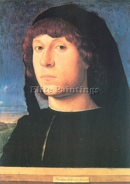 ANTONELLO DA MESSINA ADM7 2 ARTIST PAINTING REPRODUCTION HANDMADE OIL CANVAS ART