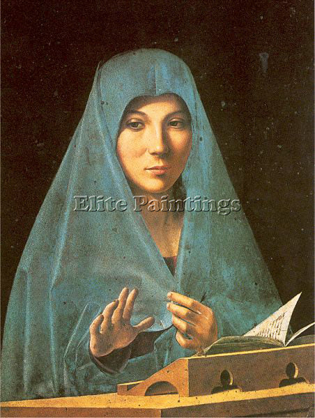 ANTONELLO DA MESSINA ADM8 2 ARTIST PAINTING REPRODUCTION HANDMADE OIL CANVAS ART