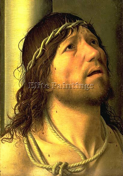 ANTONELLO DA MESSINA CHRIST AT THE COLUMN DETAIL ARTIST PAINTING HANDMADE CANVAS