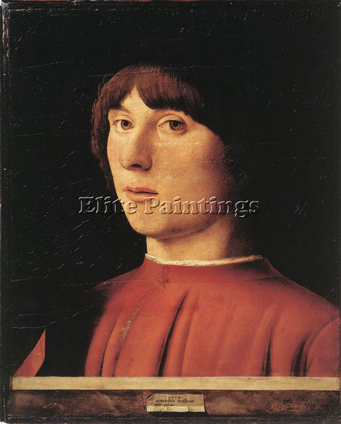 ANTONELLO DA MESSINA PORTRAIT OF A MAN 1474 2 ARTIST PAINTING REPRODUCTION OIL