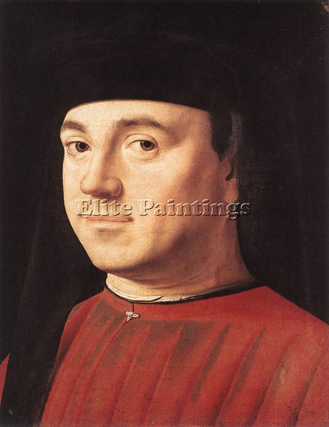 ANTONELLO DA MESSINA PORTRAIT OF A MAN 1475 ARTIST PAINTING HANDMADE OIL CANVAS