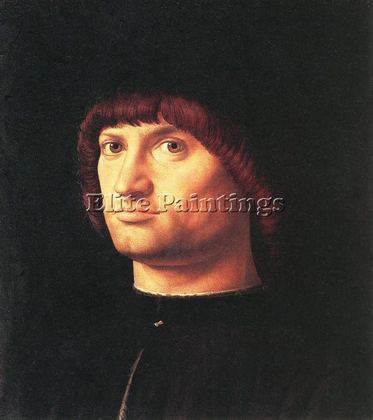 ANTONELLO DA MESSINA PORTRAIT OF A MAN ARTIST PAINTING REPRODUCTION HANDMADE OIL
