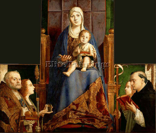 ANTONELLO DA MESSINA SAN CASSIANO ALTAR ARTIST PAINTING REPRODUCTION HANDMADE