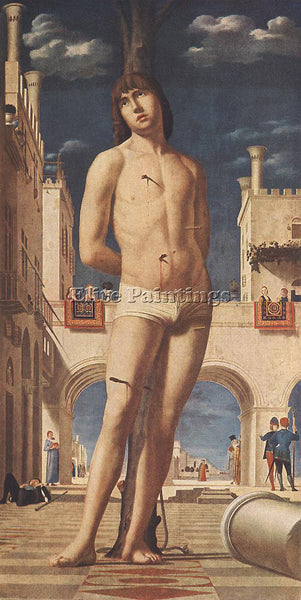 ANTONELLO DA MESSINA ST SEBASTIAN ARTIST PAINTING REPRODUCTION HANDMADE OIL DECO