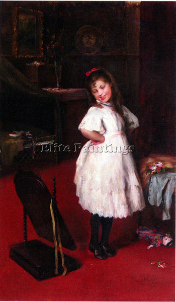 HUNGARIAN ARTHUR LAJOS HALMI THE PARTY DRESS ARTIST PAINTING HANDMADE OIL CANVAS