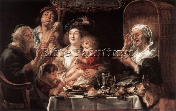 JACOB JORDAENS AS THE OLD SANG THE YOUNG PLAY PIPES ARTIST PAINTING REPRODUCTION