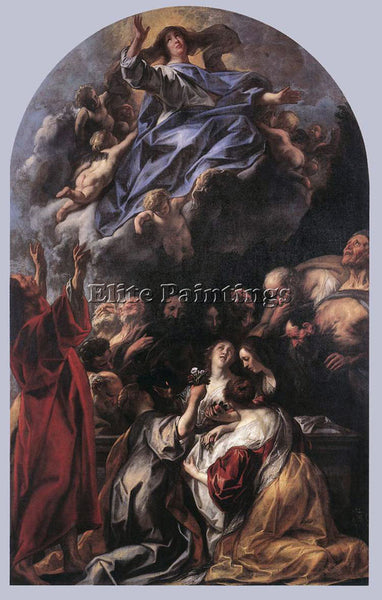 JACOB JORDAENS ASSUMPTION OF THE VIRGIN ARTIST PAINTING REPRODUCTION HANDMADE