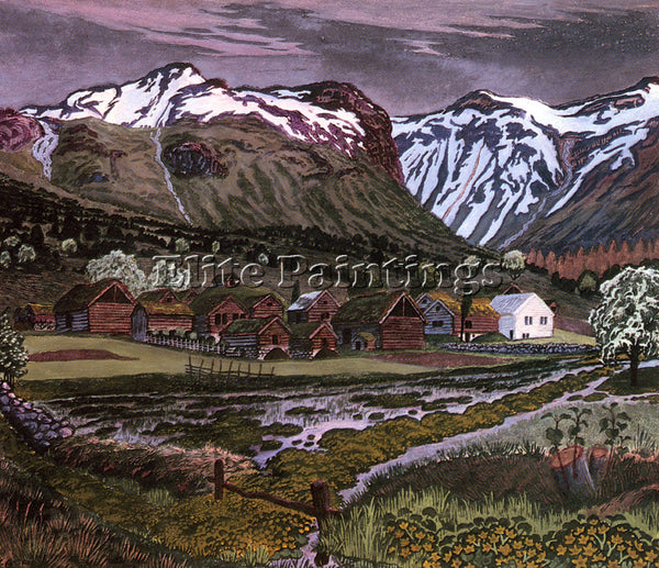 NORWAY ASTRUP NIKOLAI SOLEIENATT ARTIST PAINTING REPRODUCTION HANDMADE OIL REPRO