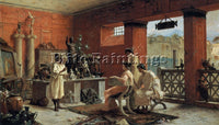 ETTORE FORTI AT THE ANTIQUARIANS ARTIST PAINTING REPRODUCTION HANDMADE OIL REPRO