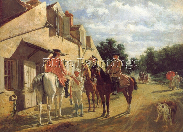 JEAN-LOUIS ERNEST MEISSONIER AT THE RELAY STATION ARTIST PAINTING REPRODUCTION