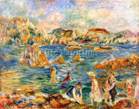 RENOIR AT THE BEACH OF GUERNESEY ARTIST PAINTING REPRODUCTION HANDMADE OIL REPRO