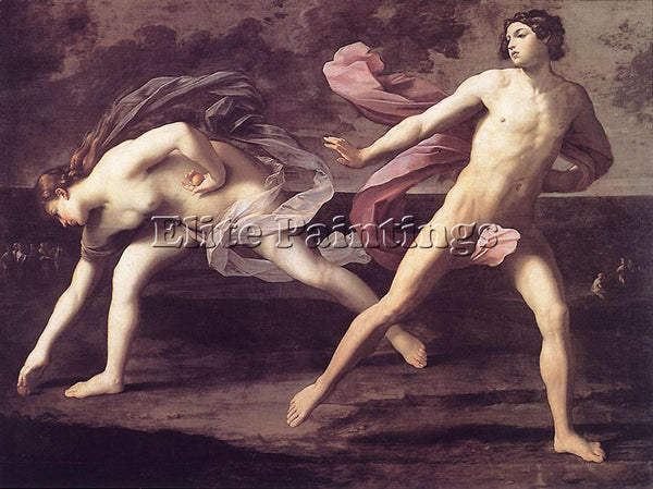 GUIDO RENI ATALANTA AND HIPPOMENES 1 ARTIST PAINTING REPRODUCTION HANDMADE OIL