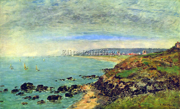 BOUDIN ATLANTIC COAST NEAR BENERVILLE BY BOUDIN ARTIST PAINTING REPRODUCTION OIL