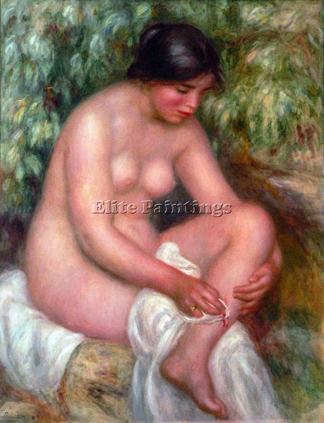 RENOIR AUGUST RENOIR BATHING ARTIST PAINTING REPRODUCTION HANDMADE CANVAS REPRO