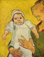 VAN GOGH AUGUSTINE ROULIN WITH HER INFANT ARTIST PAINTING REPRODUCTION HANDMADE