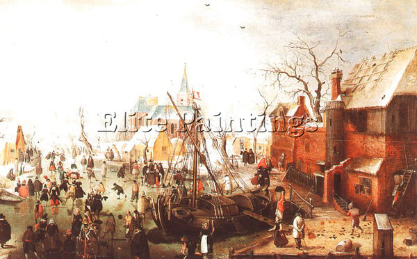 DUTCH AVERCAMP HENDRICK DUTCH 1585 1634 AVERCAM3 ARTIST PAINTING HANDMADE CANVAS