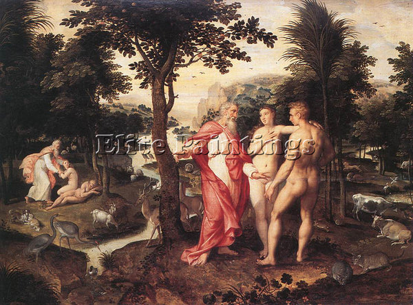 BELGIAN BACKER JACOB DE GARDEN OF EDEN ARTIST PAINTING REPRODUCTION HANDMADE OIL