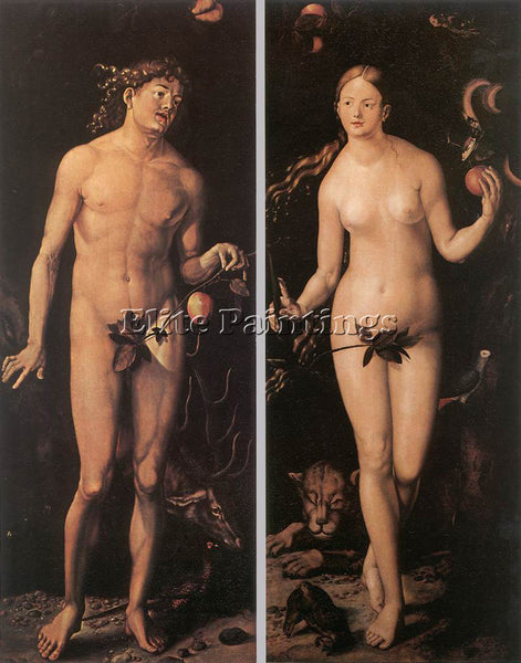 HANS BALDUNG GRIEN ADAM AND EVE ARTIST PAINTING REPRODUCTION HANDMADE OIL CANVAS