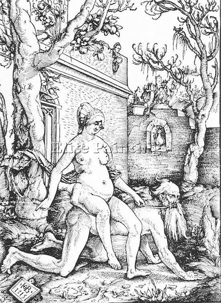 HANS BALDUNG GRIEN ARISTOTLE AND PHYLLIS ARTIST PAINTING REPRODUCTION HANDMADE