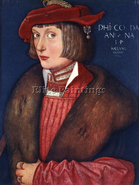 HANS BALDUNG GRIEN COUNT PHILIP ARTIST PAINTING REPRODUCTION HANDMADE OIL CANVAS