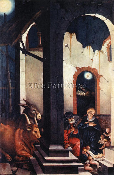 HANS BALDUNG GRIEN NATIVITY ARTIST PAINTING REPRODUCTION HANDMADE OIL CANVAS ART