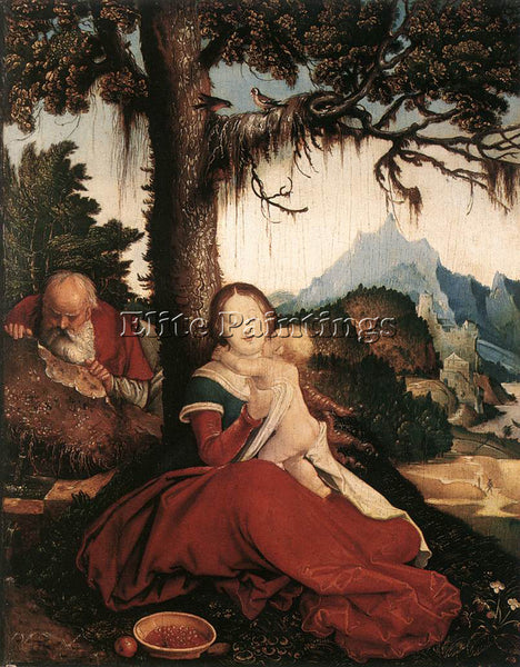 HANS BALDUNG GRIEN REST ON THE FLIGHT TO EGYPT ARTIST PAINTING REPRODUCTION OIL