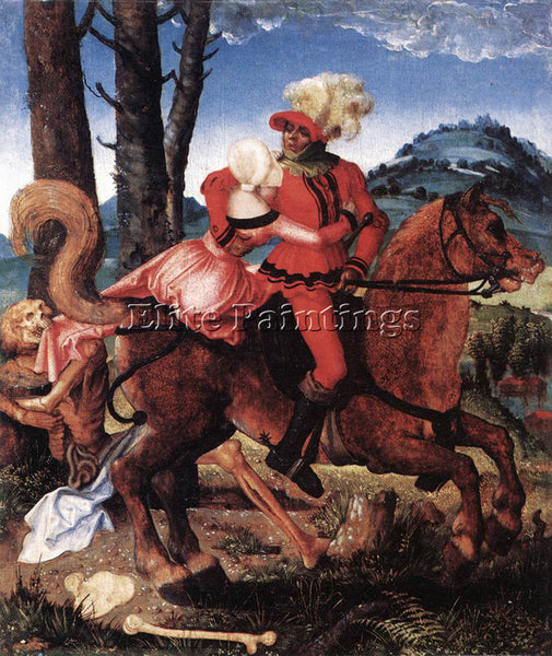 HANS BALDUNG GRIEN THE KNIGHT THE YOUNG GIRL AND DEATH ARTIST PAINTING HANDMADE