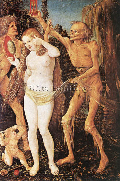 HANS BALDUNG GRIEN THREE AGES OF THE WOMAN AND THE DEATH ARTIST PAINTING CANVAS