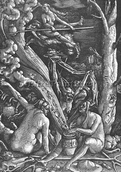 HANS BALDUNG GRIEN WITCHES SABBATH ARTIST PAINTING REPRODUCTION HANDMADE OIL ART