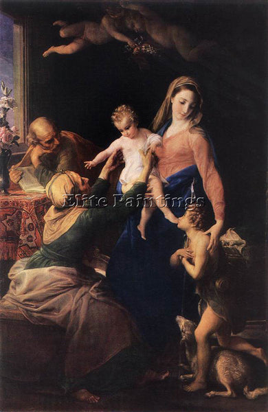 POMPEO GIROLAMO BATONI HOLY FAMILY ARTIST PAINTING REPRODUCTION HANDMADE OIL ART