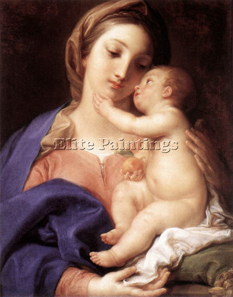 POMPEO GIROLAMO BATONI MADONNA AND CHILD ARTIST PAINTING REPRODUCTION HANDMADE