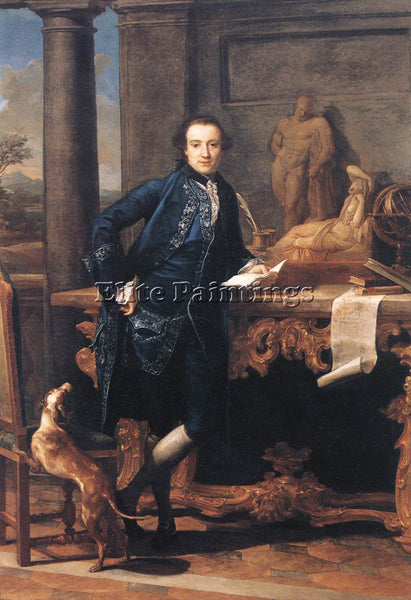 POMPEO GIROLAMO BATONI PORTRAIT OF CHARLES CROWLE ARTIST PAINTING REPRODUCTION