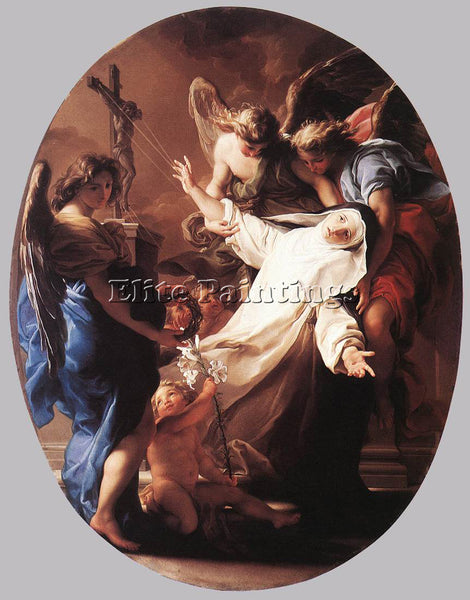 POMPEO GIROLAMO BATONI THE ECSTASY OF ST CATHERINE OF SIENA ARTIST PAINTING OIL