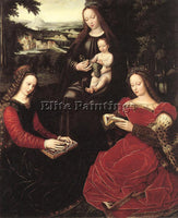 BELGIAN BENSON AMBROSIUS VIRGIN AND CHILD WITH SAINTS ARTIST PAINTING HANDMADE