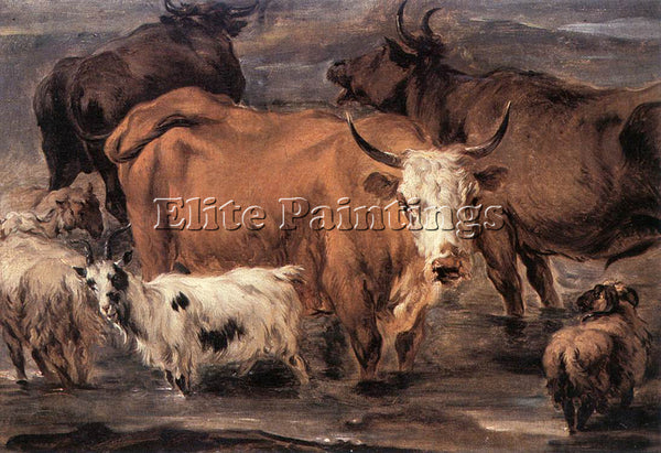 NICOLAES BERCHEM ANIMAL STUDY ARTIST PAINTING REPRODUCTION HANDMADE CANVAS REPRO