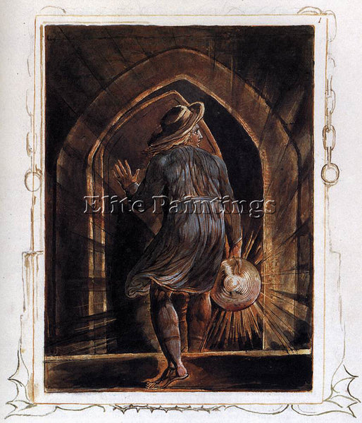WILLIAM BLAKE LOS ENTERING THE GRAVE ARTIST PAINTING REPRODUCTION HANDMADE OIL
