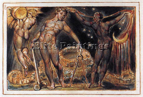 WILLIAM BLAKE LOS ARTIST PAINTING REPRODUCTION HANDMADE CANVAS REPRO WALL DECO