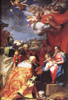 ABRAHAM BLOEMAERT ADORATION OF THE MAGI ARTIST PAINTING REPRODUCTION HANDMADE