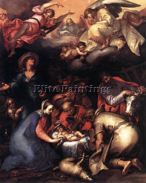 ABRAHAM BLOEMAERT ADORATION OF THE SHEPHERDS ARTIST PAINTING HANDMADE OIL CANVAS